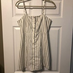 Forever 21 Cream dress with black pinstripes
